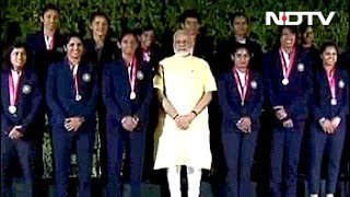 PM Modi, Sports Minister Felicitate Indian Women's Cricket Team thumbnail