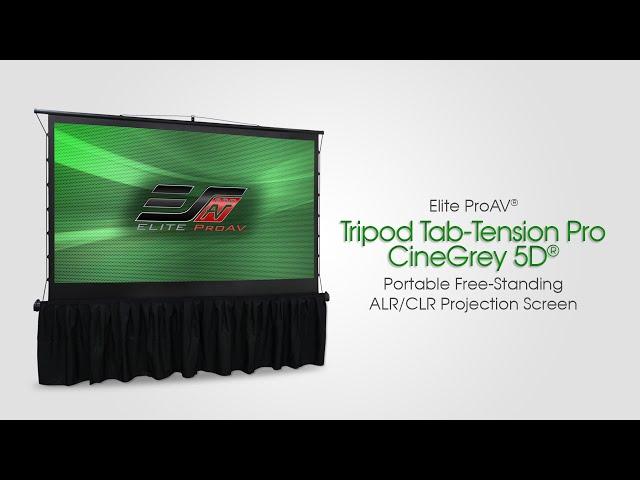 Elite ProAV® Tripod Tab-Tension Pro CineGrey 5D® - Portable Free-Standing ALR/CLR® Projection Screen