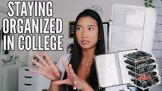 HOW TO STAY ORGANIZED IN COLLEGE | Kris Hui