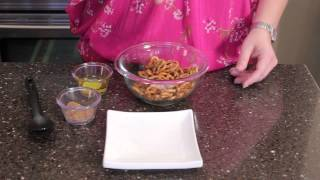 How to Make Spiced Pretzels With Popcorn Oil : Pretzel Snacks & Sweet Potato Recipes