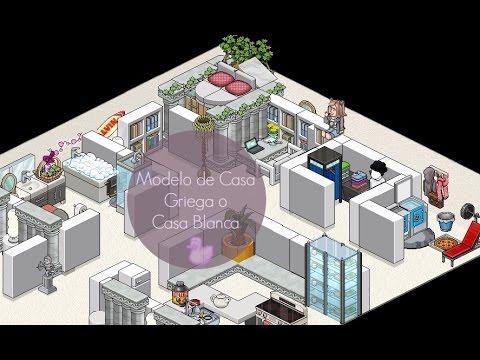 Modelo de casa griega o casa blanca habbo holo youtube for Casas en habbo