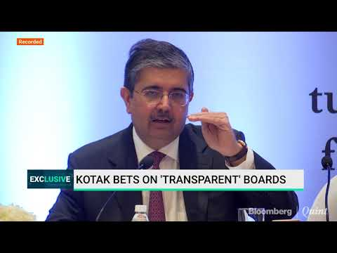 Uday Kotak On Corporate Governance Reforms
