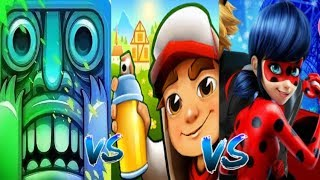 Subway Surfers Zurich BJARKI VS Леди Баг и Супер Кот VS Temple Run 2 Holi Festival