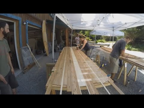 How to build a SUP with recycled wood | GrindTV