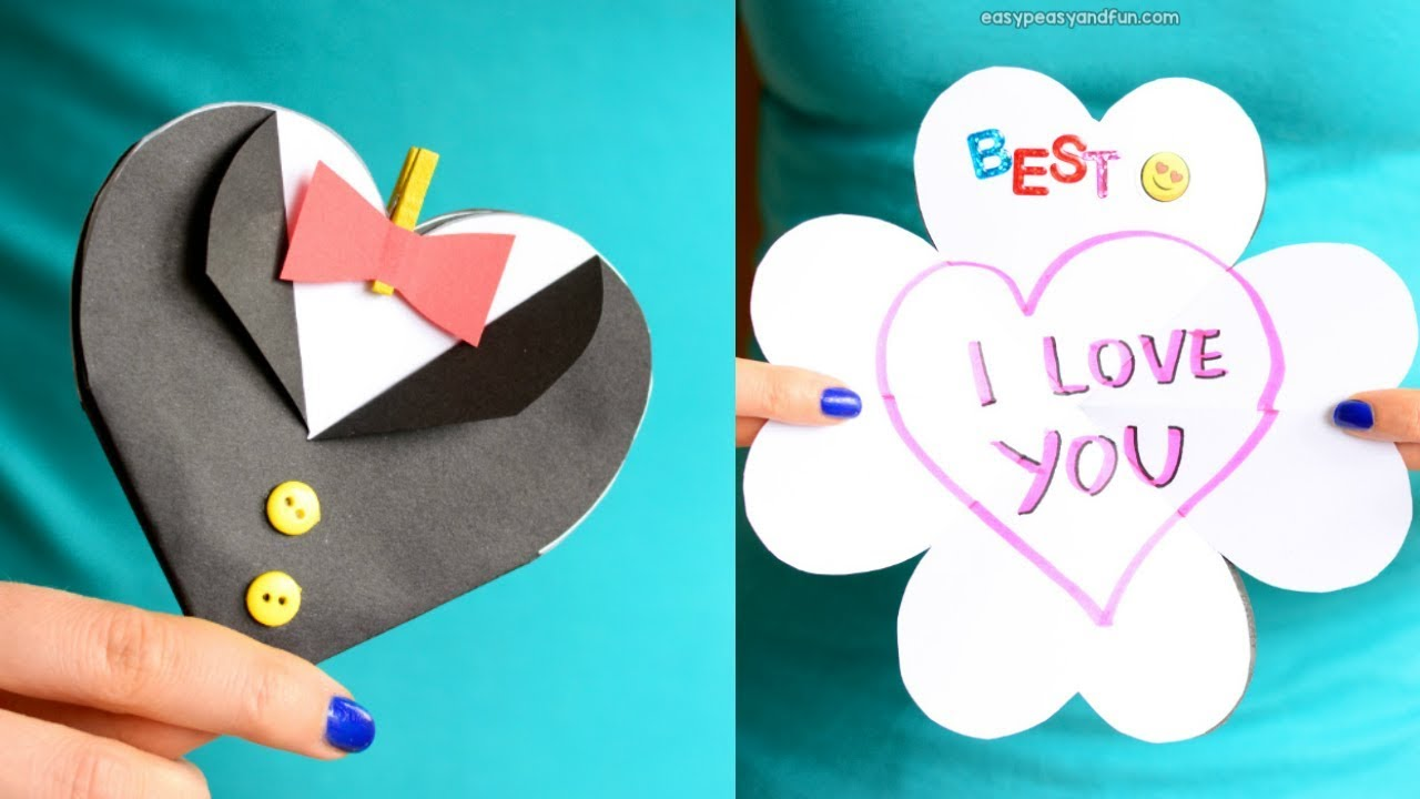 How To Make Father S Day Tuxedo Heart Card Paper Craft Idea For