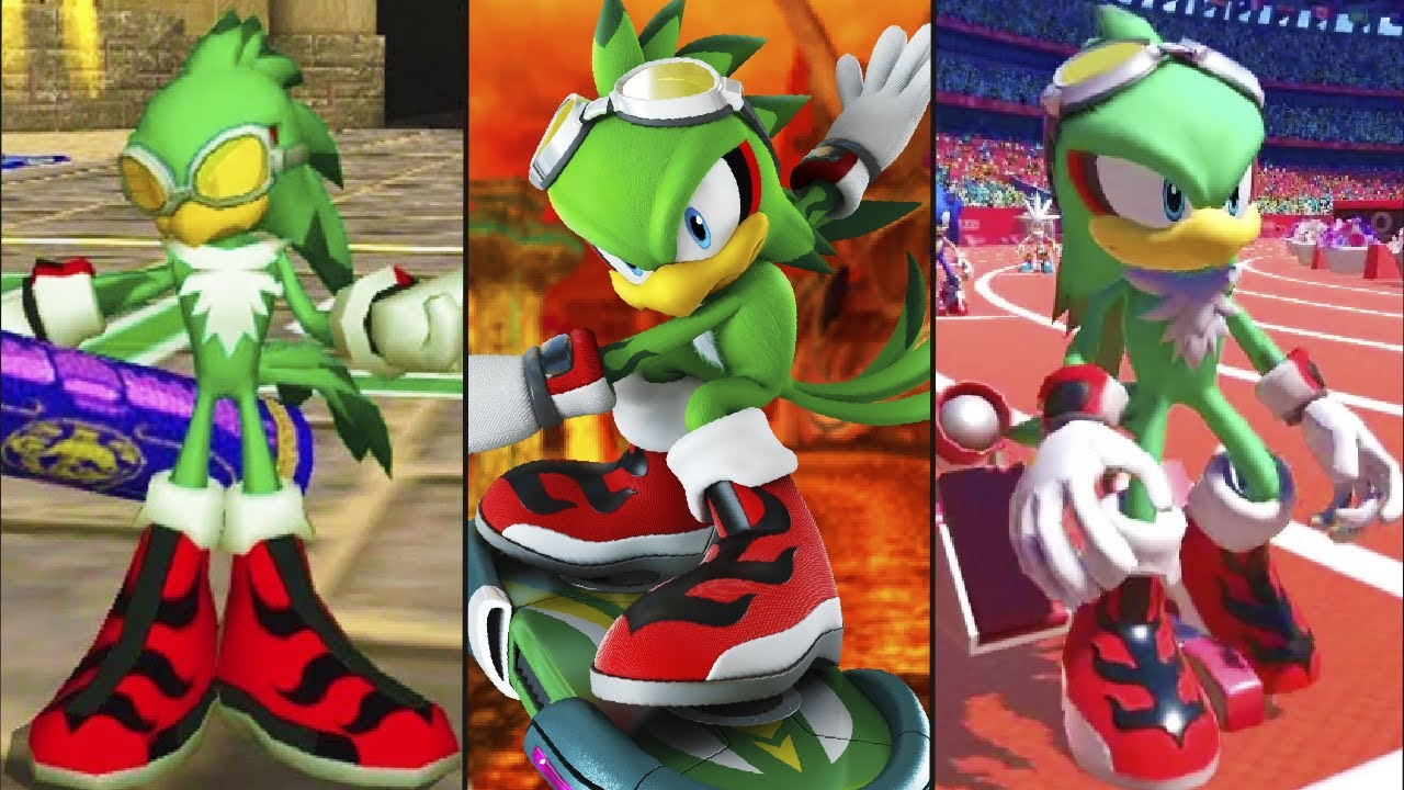 Evolution of Jet the Hawk from Sonic Riders (2006-2020)