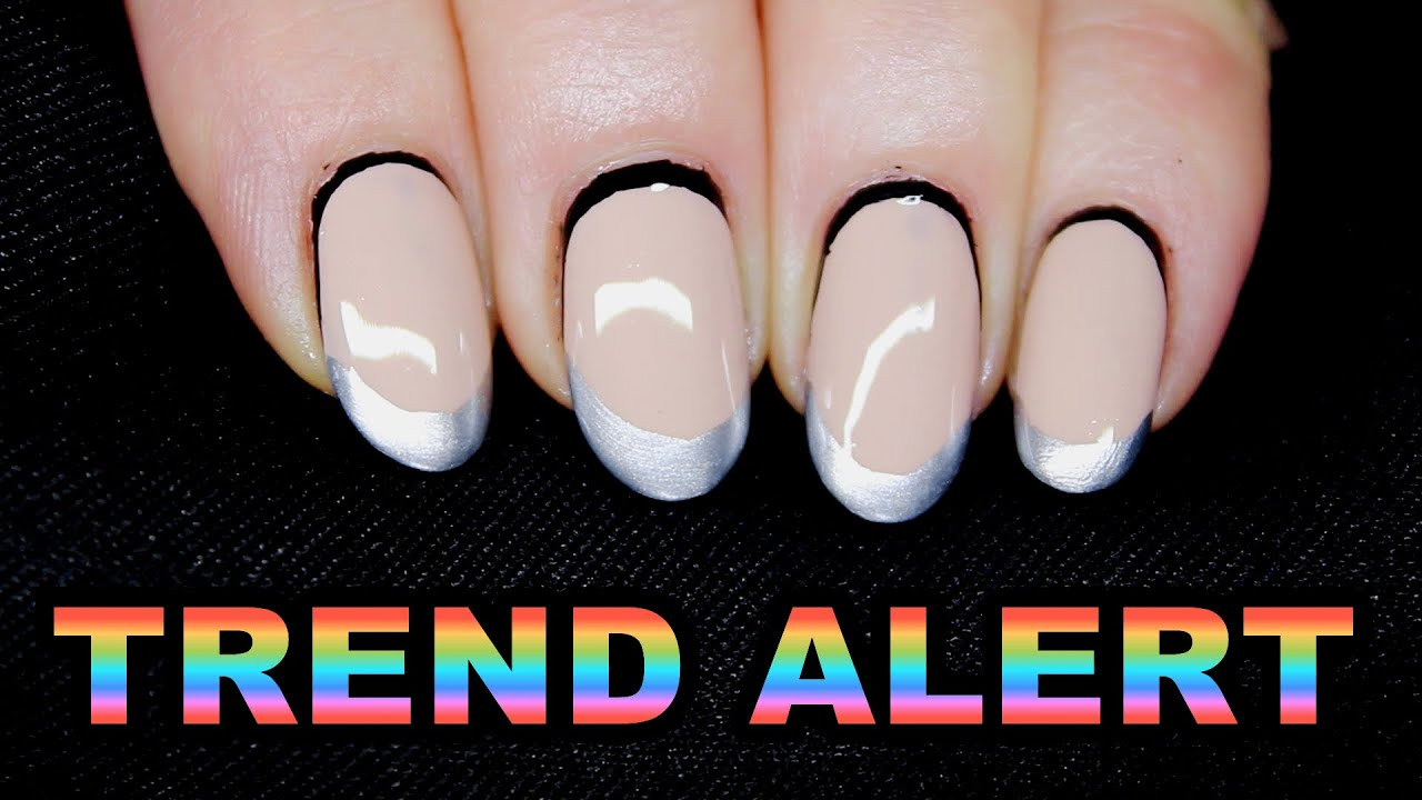 c236902935c NUDE MONOCHROME SILVER FRENCH NAIL ART  TREND ALERT  - YouTube