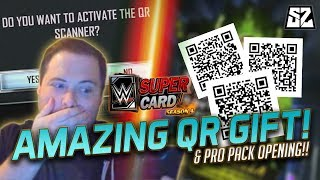 WWE SuperCard SEASON 4 - AMAZING QR CODE GIFT!! PACKS, CREDITS AND MORE!
