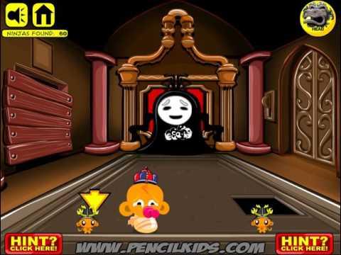 Игра Счастливая  Обезьянка Ниндзя 3 прохождение Monkey GO Happy Ninjas 3 Walkthrough