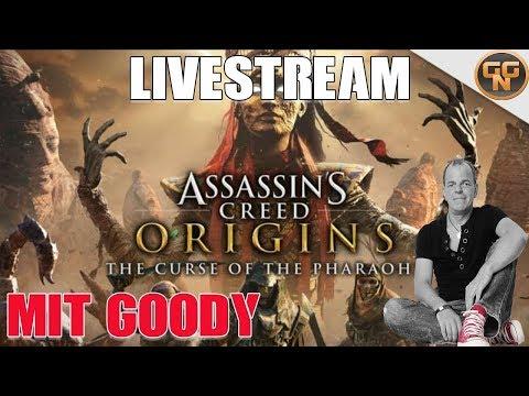 Assassins Creed Origins DLC Fluch der Pharaonen - Livestream mit Goody