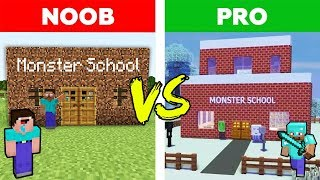 Minecraft - NOOB vs PRO : MONSTER SCHOOL in Real Life | AVM SHORTS Animation