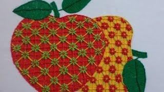 bordado fantasa manzana semanario