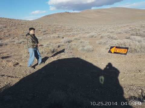 2014-10-25 Reno NV target shooting. Unregulated BLM land. Rapid fire. Off road