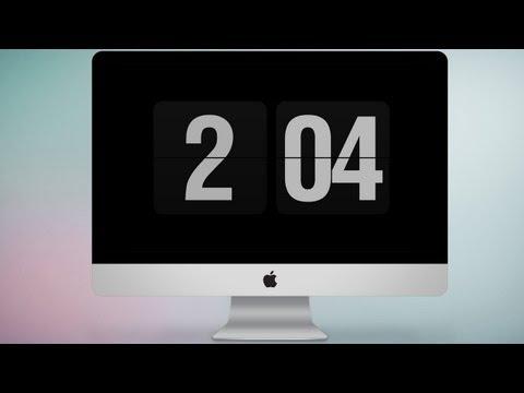 Заставка - часы для Mac