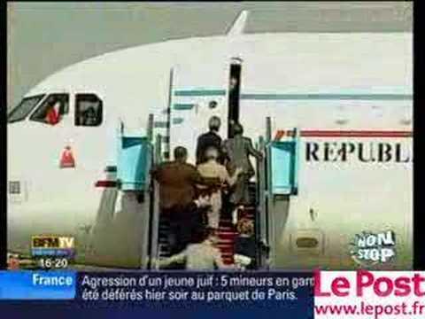 Scare As Sarkozy Departs Israel