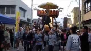 茨城県常陸太田市 太田祭り 鶴龍会御輿パレード 2014年8月14日,