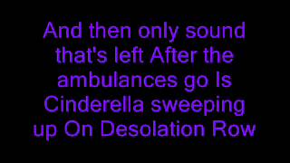 My chemical romance -Desolation row lyrics!