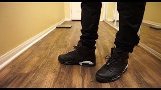 jordan 6 black cat review w on foot