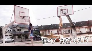 Malaysian Dunk Progress: 15 years old to 17 years old | 马来西亚灌篮 Video