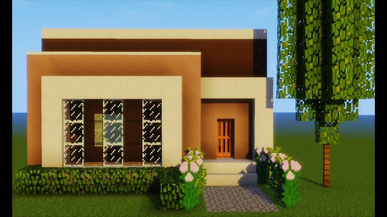 Minecraft tutorial casa moderna pequena 232 youtube for Casa moderna y pequena en minecraft