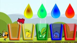 Angry Birds Drink Water 2 - GIVE ALL RAINBOW WATER TO COLOR ANGRY BIRDS!