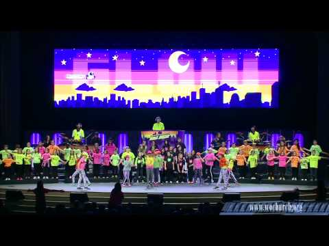 World Outreach Church Kids Choir performing Go Glow