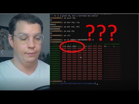 Пишу программу в машинных кодах