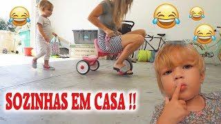 UM DIA SOZINHAS EM CASA!!