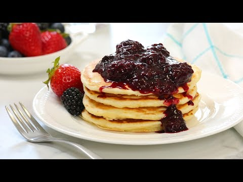 Classic Pancakes with Vanilla Berry Sauce | Perfect for Mother's Day