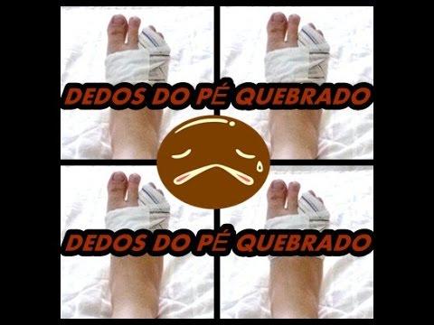 Dedo do pé quebrado