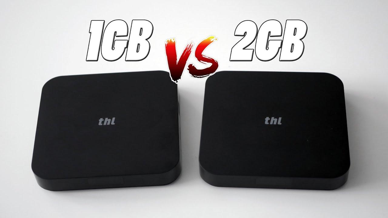 1GB vs 2GB de RAM en Android, comparando dos TV BOX de THL