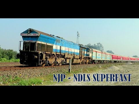 First LHB Run of 12523 NJP - New Delhi Superfast Express | Shining LHB coaches with SGUJ WDP4