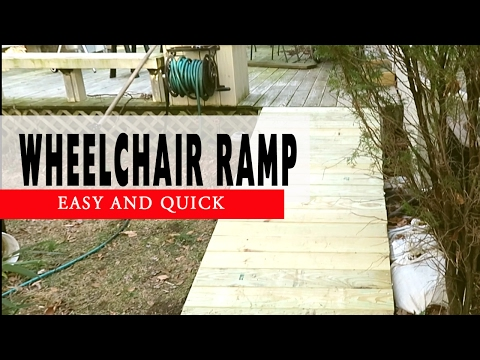 How To Build a Wheelchair Ramp To Deck DIY