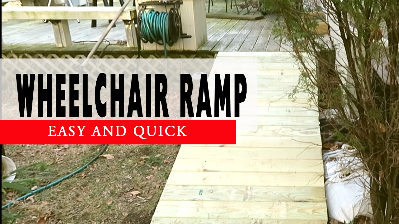 How To Build A Wheelchair Ramp Deck Diy