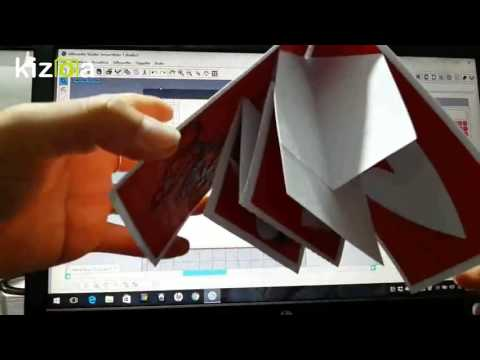 how to make a pop up card with silhouette
