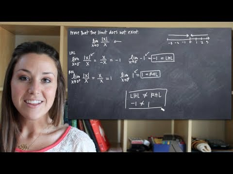 How to prove that the limit does not exist (KristaKingMath)