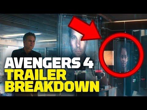 Marvels Avengers: Endgame Trailer #1 BREAKDOWN, Secrets & Easter Eggs - Rewind Theater