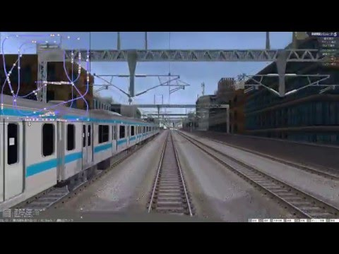 VRM5 鉄道模型シミュレータ 自動運転 複々線レイアウト 快速(外回り) テスト掲載