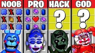 Minecraft Battle: FNAF 5 CRAFTING CHALLENGE ~ NOOB vs PRO vs HACKER vs GOD – Evolution Animation