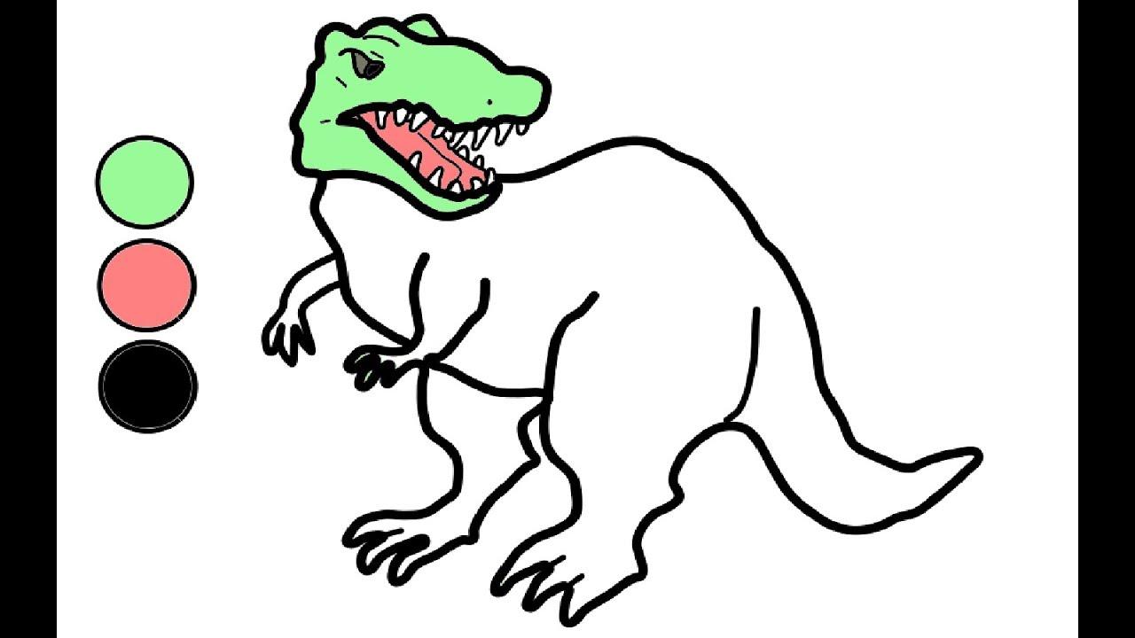 WIE ZEICHNET MAN DINOSAURIER  ZEICHNEN UND MALEN FÜR KİNDER, Dinosaurier  Malen,Zeichnen Dinosaurier