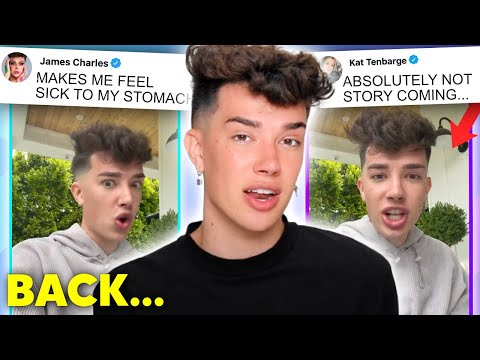 James Charles RETURNS to address lawsuit… (messy)
