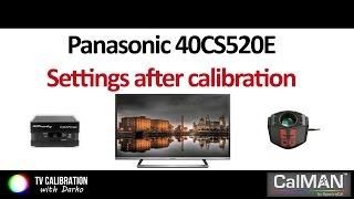 Panasonic CS520E settings after calibration