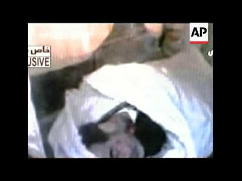 Video-phone allegedly showing the body of Saddam Hussein after execution