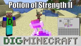 Potion of Strength II in Minecraft
