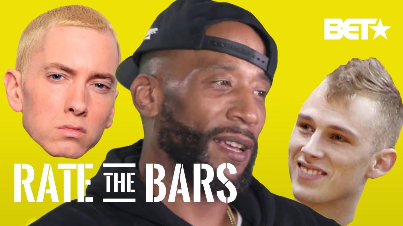 "Lord Jamar on Eminem's ""Killshot"" over Machine Gun Kelly's ""Rap Devil""  + Joyner | Rate The Bars"