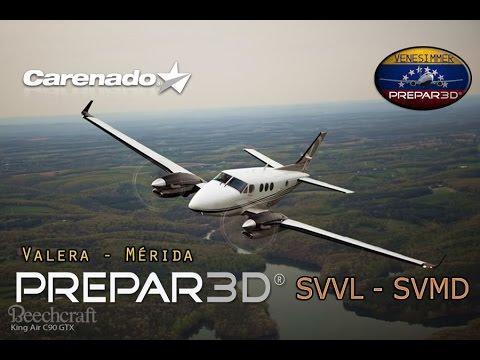 [P3Dv3.3] IVAO | VFR Carenado C90 GTX SVVL - SVMD (ESP/ENG)