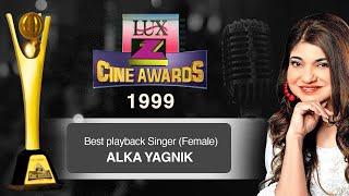 Zee Cine Awards 1999 | Best Playback Singer Female - Alka Yagnik  | #ZCA