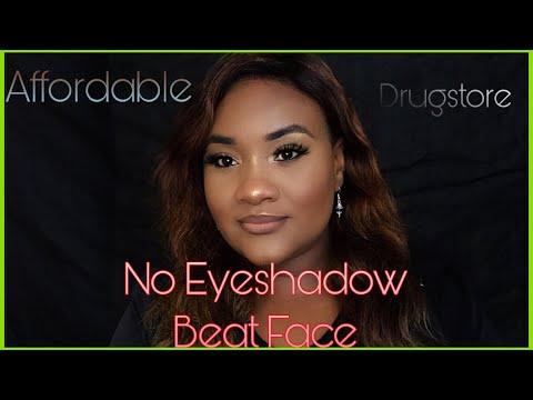 #FullFace #Affordable & #Drugstore no Eyeshadow Glam Look| Dark Skin Friendly| Sharglam thumbnail
