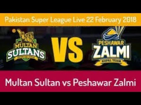 PSL 2018 | Multan Sultan vs Peshawar Zalmi | Live Stream