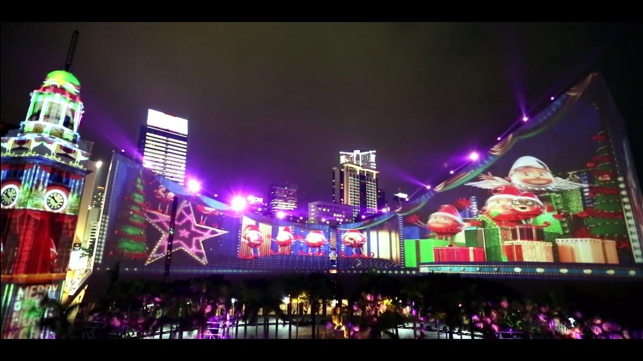 Hong Kong Pulse 3D Light Show  Hong Kong WinterFest Highlights - YouTube